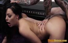 Teen slut gets her unshaven cunt ravished